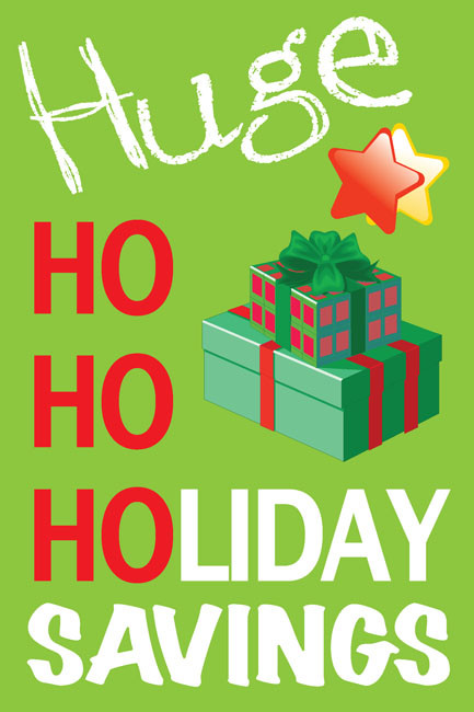 Holiday Sale Posters Style 1400