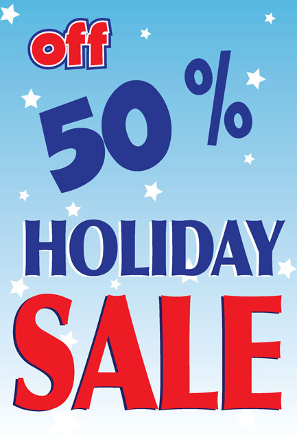 Holiday Sale Window Sign Posters Style 3400