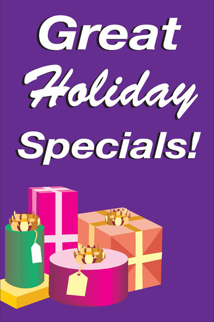 Holiday Sale Posters Style 3500