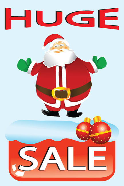 Holiday Sale Advertising Poster Style 4400
