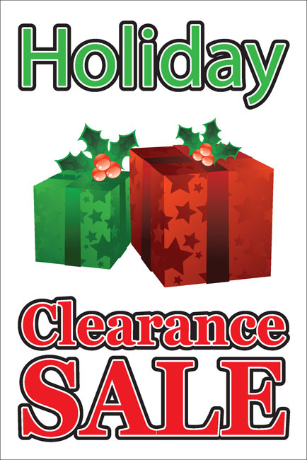 Holiday Sale Sign Window Poster Style 4700