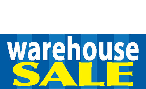 Colorful Warehouse Sale Banner Sign Style 1300