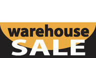 Warehouse Sal Banner Sign for outdoor or indoor advertising