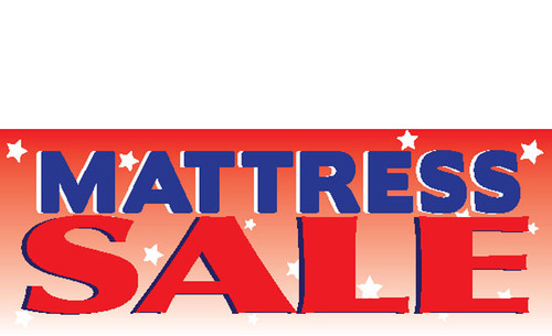 Mattress Sale Vinyl Banner Sign Style 1100 Full Color Printed Outdoor Durable.