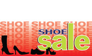 Shoe Sale Vinyl Banner Sign Style 1000