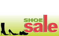 Shoe Sale Advertising Sign Banner Style 1100