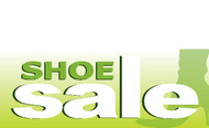 Shoe Sale Advertising Banner Sign Style 1200