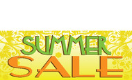 Summer Salle Sign Banner Style 1100