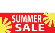 Summer Sale Banner Sign style 1200