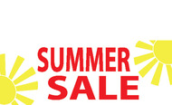 Summer Sale Advertising Banner Sign style 1300
