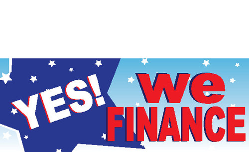 Yes We Finance Banner Sign