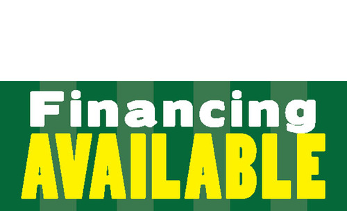 Financing Available Banner Sign