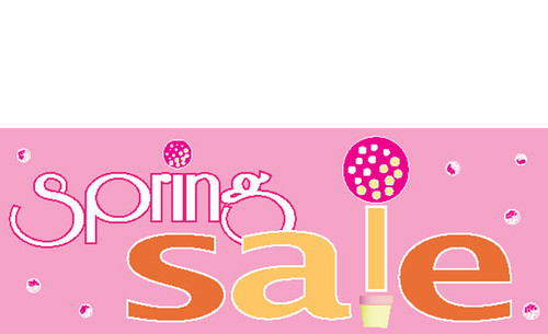 Spring Sale Retail Store Advertising banner sign style 1100