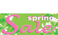 Spring Sale Retail Store Vinyl Banner Sign Style 1300