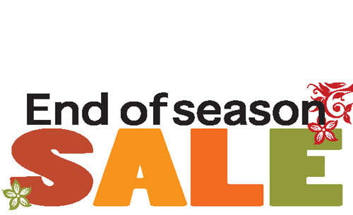 Fall End of season Sale Banner Sign
