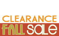 Fall Clearance Sale Banner Sign Style 1200