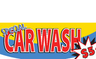 Car Wash Banner $5 Special