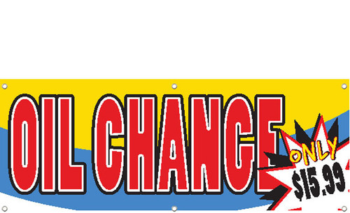 OIL CHANGE BANNER SIGN WITH CUSTOMIZE PRICE STYLE 1700