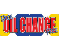 FREE OIL CHANGE BANNER STYLE 1800