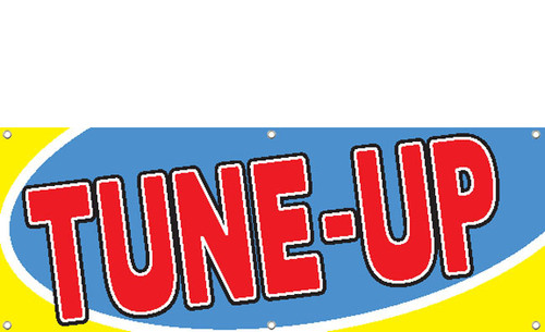 Auto TUNE-UP Banner Sign Style 2200