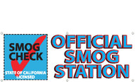 Official Smog Station Banner Sign 3000