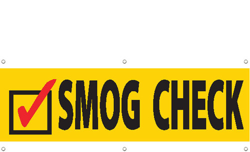 Smog Check Banner Sign Style 3100