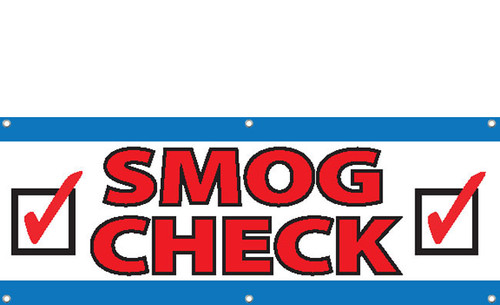 Smog Check Banner Sign Style 3200