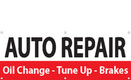 Banner Sign Auto Repair-Oil Change-Tune Up-Brakes