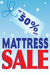 Mattress Sale Window Posters Style1100