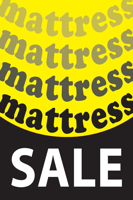Mattress Sale Promotional Window Posters Style1200