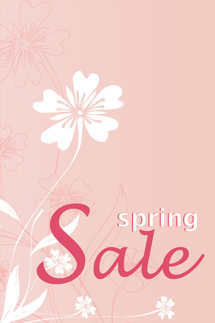 Spring Sale Window Posters Design Style1000