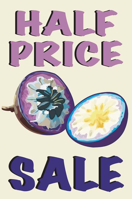 Half Price Sale Window Posters Style1100