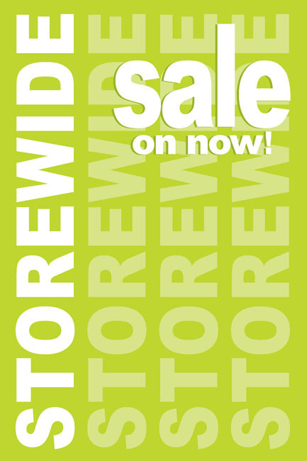 Storewide Sale Posters Style1000