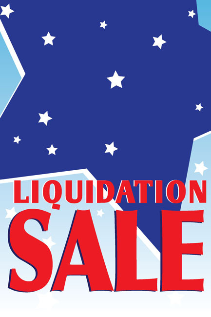 Liquidation Sale Window Poster Sign Style1000