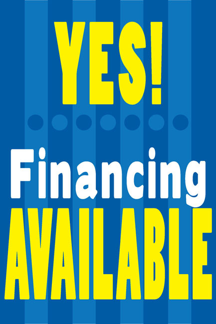Financing Available Posters Style Design Id 1100