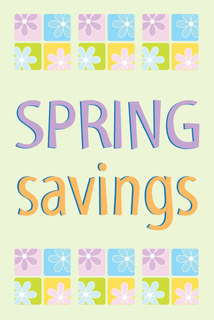 Spring Sale Window Posters Style1200