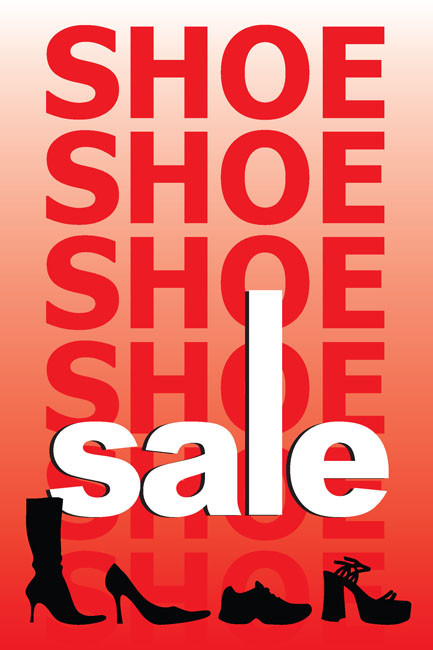 Shoe Sale Posters Style1100