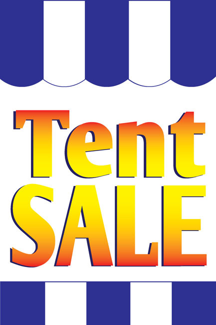 Tent Sale Advertising Poster Style1100