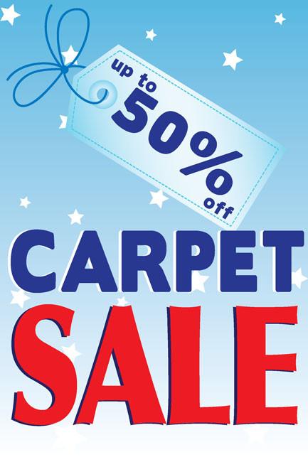 Carpet Sale Window Poster Style 1100