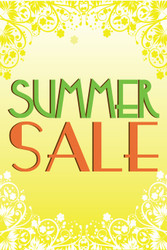Summer Sale Posters Window Sign Style1100