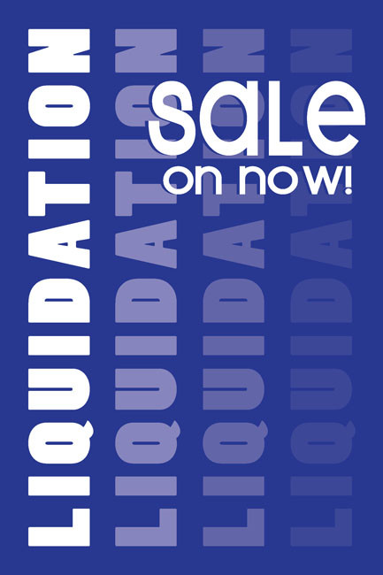Liquidation Sale Window Poster Style1200