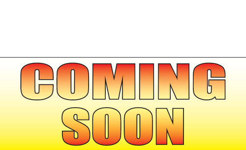 Coming Soon Banner Sign Style 1700