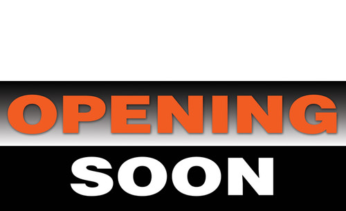 Opening Soon Banner Sign Style 1200