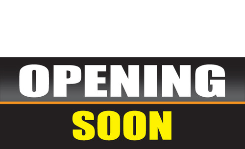 Opening Soon Banner Sign style 1300