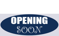 Opening Soon Banner Sign style 1400