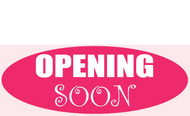Opening Soon Banner Sign style 1500
