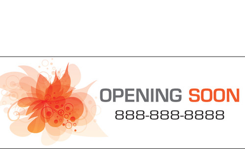 Opening Soon Banner Sign style 1600