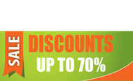 Discount Sale Banner Sign style 1100
