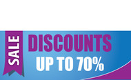 Discount Sale Banner Sign style 1200