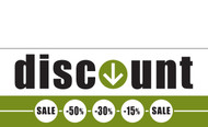 Discount Sale Banner Sign style 1400